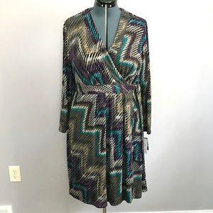 NWT Faux Wrap Dress